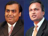 Mukesh Ambani and Anil Ambani