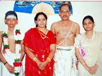 Anandalakshmi with suraj and family