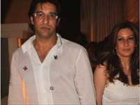 Wasim with Wife