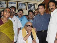 Karunanidhi with family