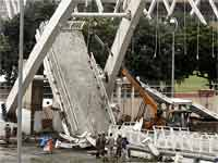 Delhi Nehru stadium Collapsed Bridge