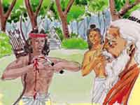 Eklavya and Dronacharya