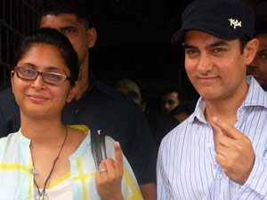 Aamir Khan with Kiran Rao