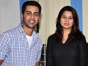 Sangeetha and her husband Krish