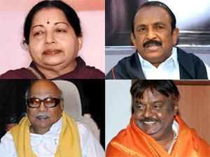 Jayalalitha, Vaiko ,Karunanidhi and Vijayakanth