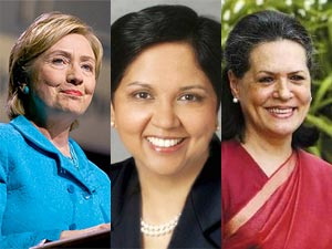 Hillary clinton, Indra Nooyi and Sonia gandhi