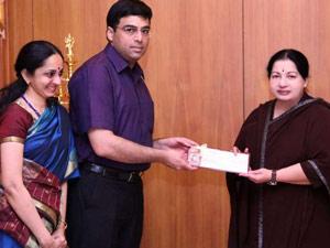Viswanathan Anand Get Rs 2 Crore Cash Award Jayalalitha