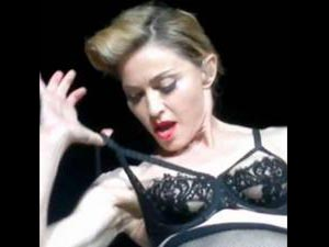 Now Madonna Flashes Her Left Breast