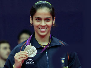 Saina Nehwal Returns Rousing Welcome