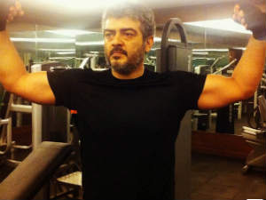 Ajith Flexes His Muscles