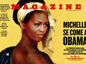 Michelle Obama Pictured Nude Slave In Spanish Magazine