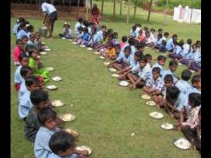 Tn School Children Get Briyani Pulao