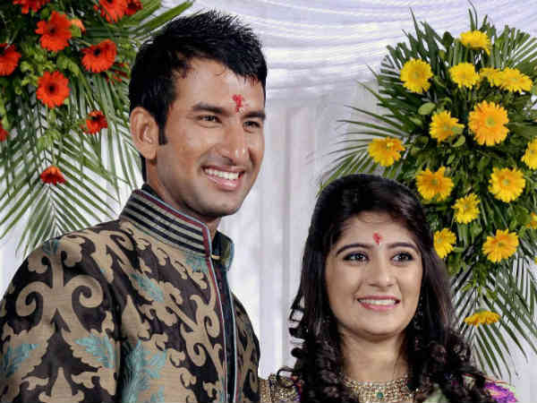 cheteshwar pujara ties the wedding knot
