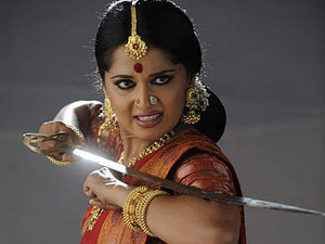 Anushka Learns Sword Fight Rudrama