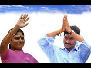 Vjayamma and Jaganmohan Reddy