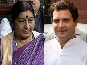 Karnataka polls: Rahul barb like demon preaching Gita, Sushma Swaraj says