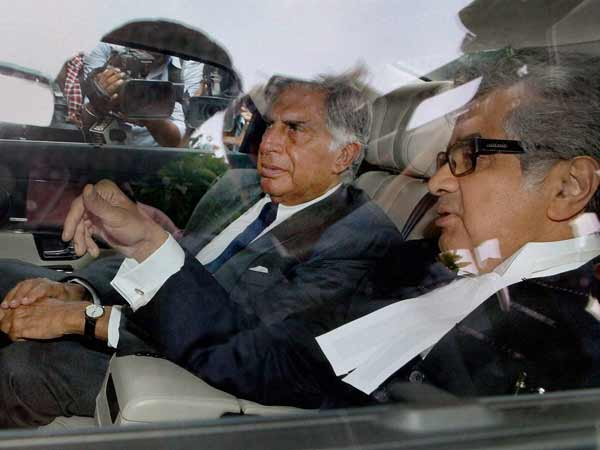 Former Tata Group Chairman Ratan Tata leaving the Supreme Court in New Delhi on Wednesday after watching proceedings in the case related to taped conversations of former corporate lobbyist Niira Radia