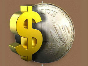 Rupee down 75 paise against dollar in early trade