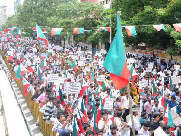 PFI cadres protest against human rights violation