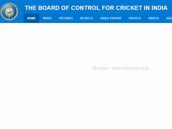 BCCI website hacked