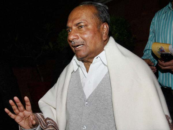 Military coup will never happen in India: AK Antony