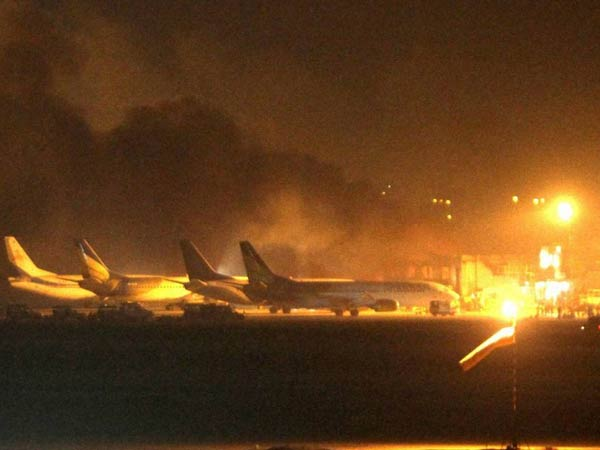 Bodies of seven people trapped inside a cargo building in Karachi airport