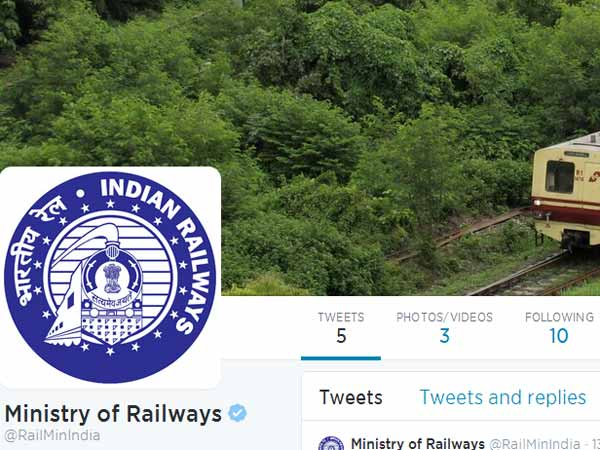 Railway Ministry joins Facebook, Twitter