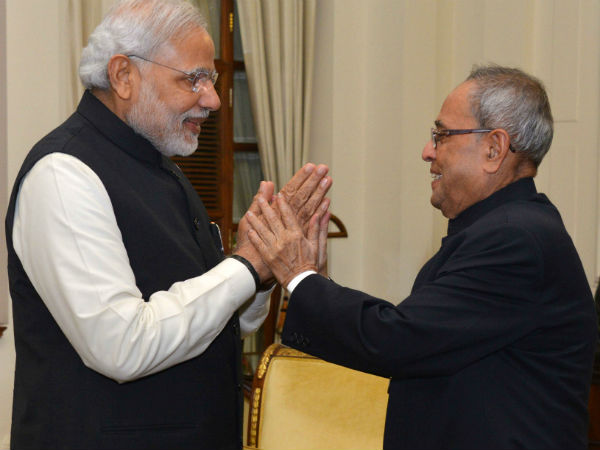 PM Narendra Modi greets President Pranab Mukherjee on birthday