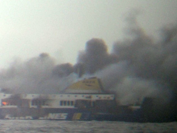 Airlift Underway for Hundreds Trapped on Burning Ferry in Adriatic Sea