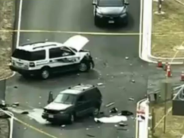 NSA shooting: 1 dead after 2 men dressed as women tried to crash gate outside Fort Meade