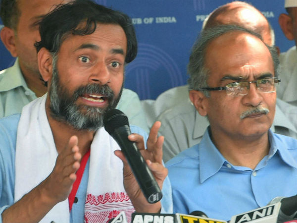 Yogendra Yadav, Prashant Bhushan Expelled From Aam Aadmi Party