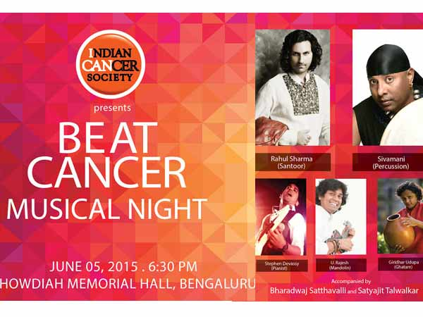 Beat cancer Musical Night in Bangalore on june 5th