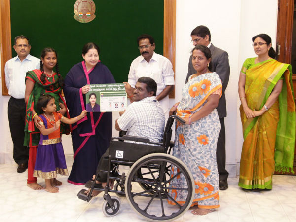 Jayalalitha lanuch Health Insurance Cooperative Department Officials