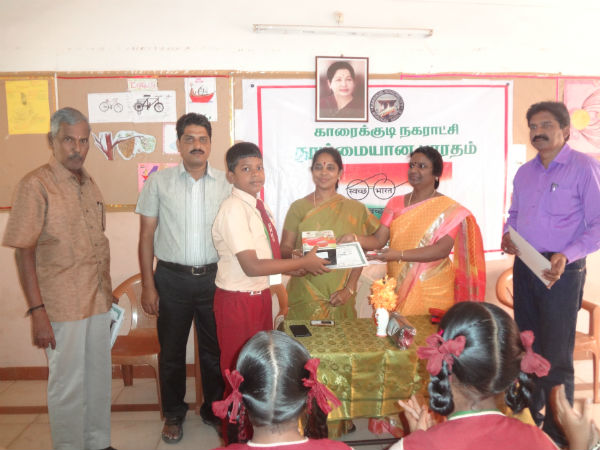 Karaikudi school conducts contest for students on clean India