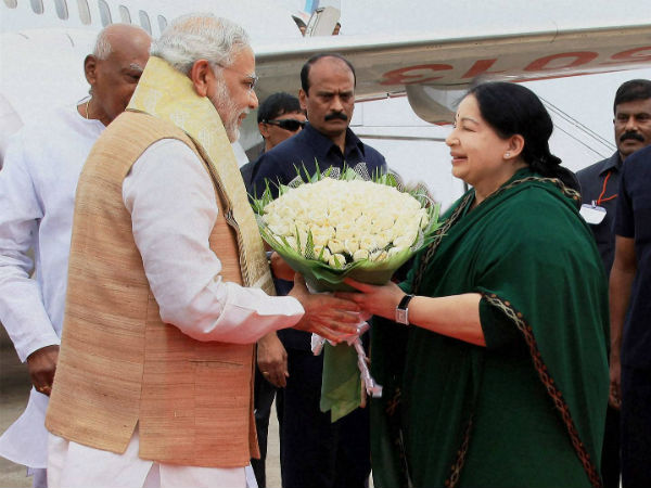 Jayalalitha to welcome Modi at the Airport