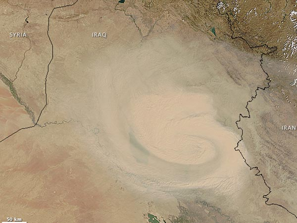 Deadly sandstorm engulfs parts of Middle East: 8 dead