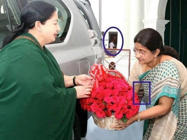 Chief Secretary and Ministers with CM Jayalalitha photoshop photos