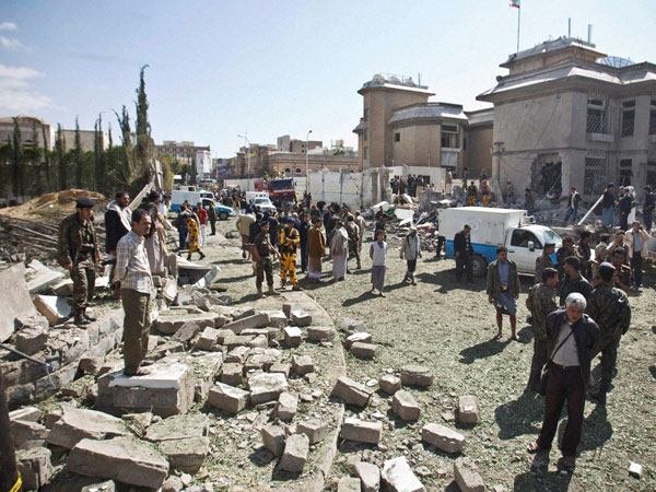 At least 29 killed in attack in Yemen mosque during Eid prayers