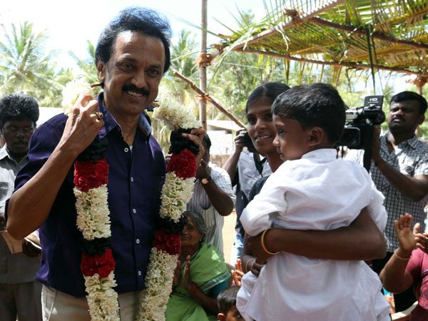 Stalin does Silmabam in Karur