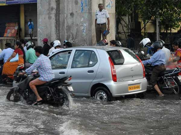 Another spell of heavy rain makes Chennai traffic worse