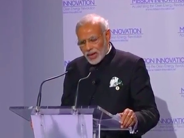 Modi speaking at the launch of International Solar Alliance