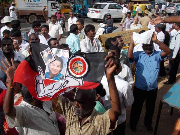 ADMK's low leavel protests