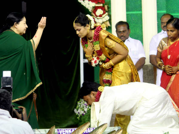 jayalalitha's shorts story in marriage function