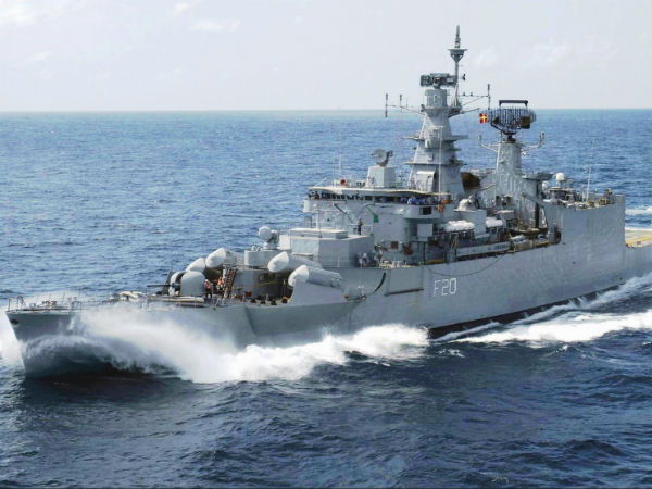 seven battle vessels arrived at Tuticorin port