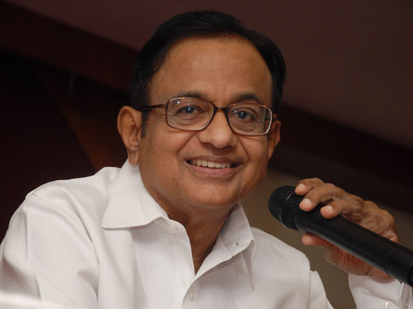 P Chidambaram attends Cong. Panel meeting