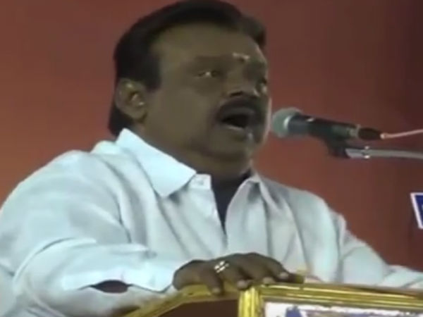 Vijayakanth's short story in election campaign