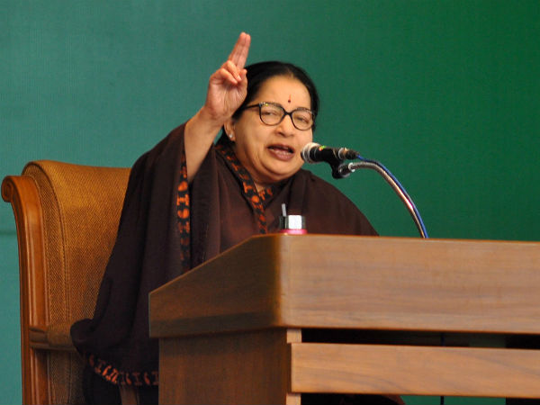 Jaya targets DMK and its false promises in Coimbatore meet