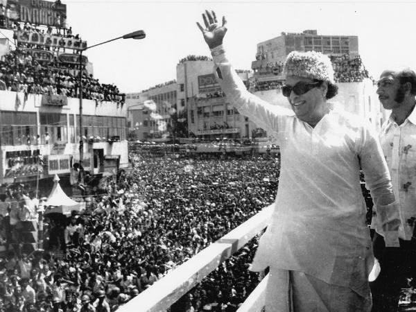 MGR's technique to save women in big crowd