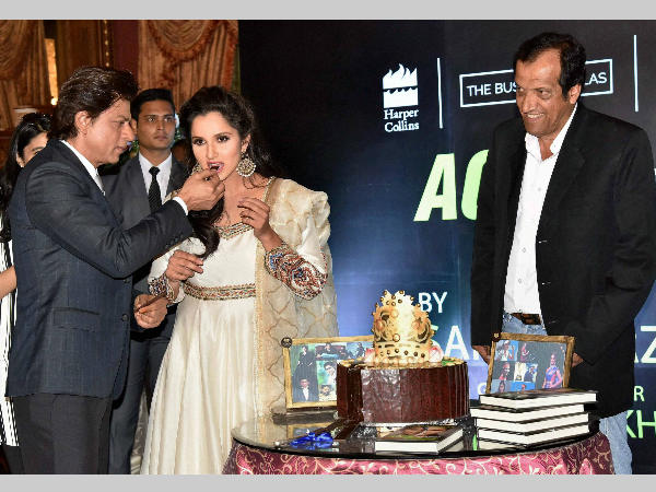 Shah Rukh Khan launches Sania Mirza's autobiography, calls her 'rani of racquet'