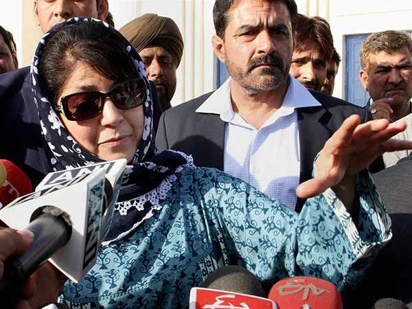 Mehbooba slams Pakistan for fuelling protests in Kashmir